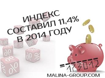 Индекс потребительских цен за 2014 год составил 11,4%