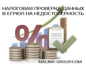 Налоговая проверка данных в ЕГРЮЛ на недостоверность