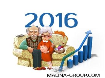 Выборочное увеличение пенсий в 2016 году началось